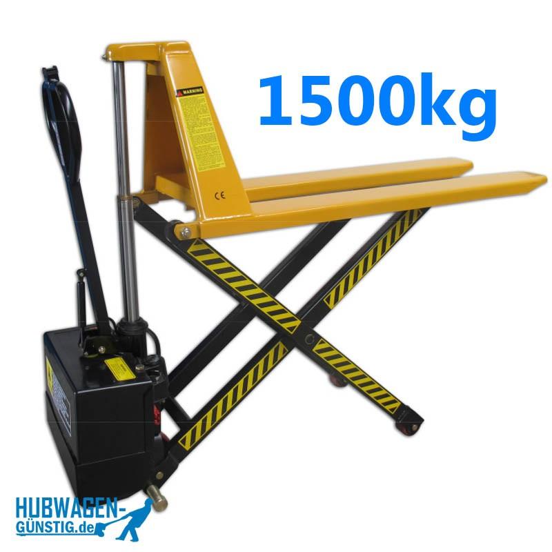 Scherenhubwagen elektrisch 1500kg