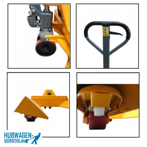 Prismenhubwagen für Kabel- und Papierrollen