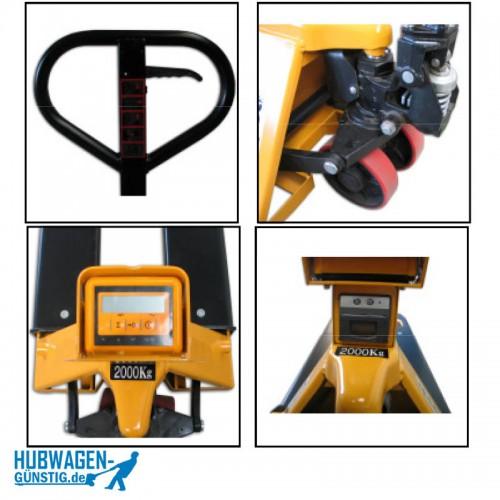 Waagehubwagen mit Drucker / Hubwagen mit Waage mit Drucker